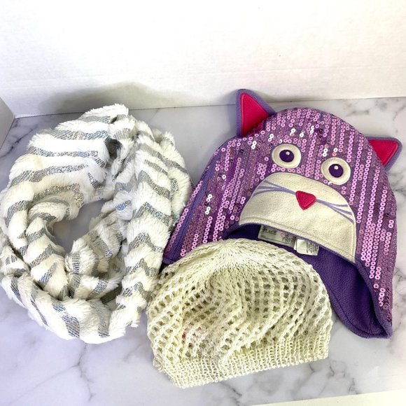 The Childrens Place Girls Furry Cat Hat